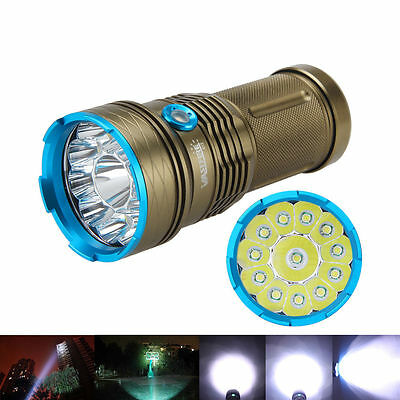 Super Bright Tactical 50000LM 12 XM-L T6 LED Hunting Flashlight Torch Light Lamp