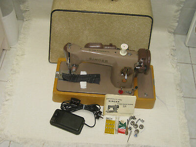 ORIGINAL SINGER 40 Electric Foot Pedal Sewing Machine With Wooden Fascinating Singer Foot Pedal Sewing Machine