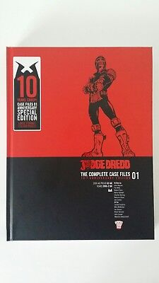 Signed Judge Dredd Case File volume 1-Special anniversary edition.