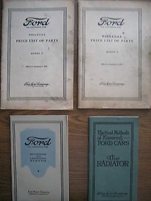 Four pieces of Ford Model T literature.