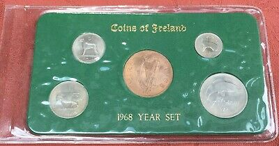 Ireland 1968 Coin Set Coins Of Ireland Set