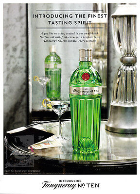Tanqueray No. 10 print ad 2015 Martini glass