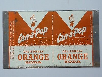 12oz Can-A-Pop California Orange Soda Unrolled Sheet