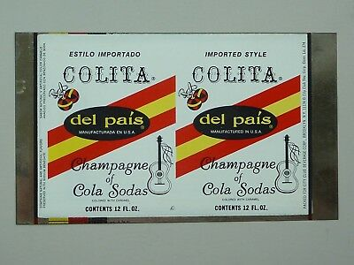 12oz Colita Del Pais Champagne Of Sodas Unrolled Sheet