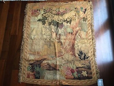 """Antique French Aubusson Tapestry - circa 1850 - 51"""" x 63"""""""