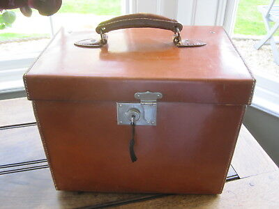 Vintage Lincoln Bennett Leather Hat Box Case