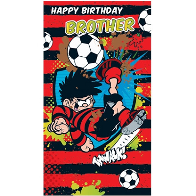 Dennis The Menace Happy Birthday Brother Card Bn014 269
