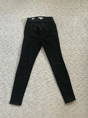 New Madewell Black Denim Maternity Skinny Jeans With Side Panels - Size 27
