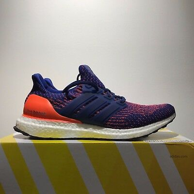 21be154850b Adidas Ultra Boost 3.0 Mystic Ink Blue Orange Mystery DS S82020 UK 9.5 US 10