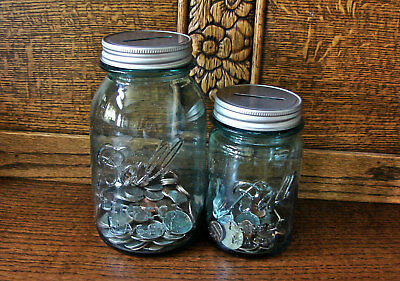 Mason Jar Coin Slot Lid-Mason Jar Bank Lid-Mason Jar Piggy Bank Lid-2 Pieces