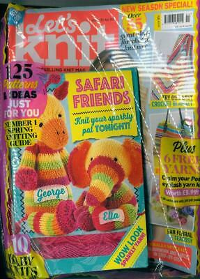 Lets Knit Magazine Issue #130 April 2018 ~ New Sealed With Gifts ~