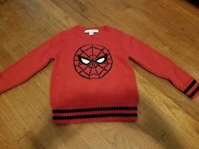 SPIDER-MAN sweater used 5T Baby Gap