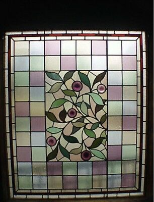 Authentic Antique Swaine Bourne stained glass panels windows