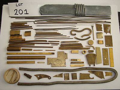 Job Lot Brass Bits and Solder from Retired Clockmakers Workshop Lot 201