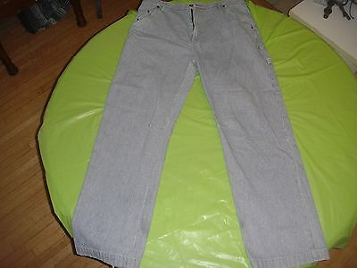 Apco work pants 36X32 Jeans Loose fit  cotton Pinstripe