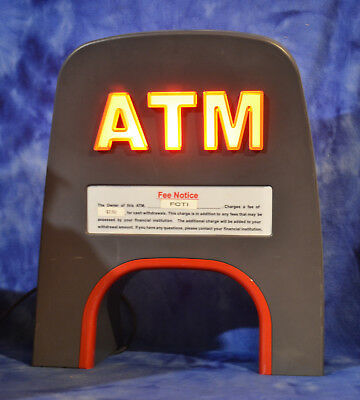 Atm Lighted Topper Other Uses Include Man Cave Basement Novelty Decor Unique