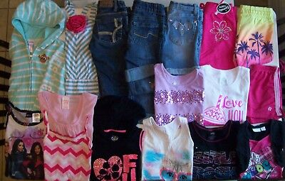 Girls Spring clothes lot size 7 Girls clothes size 7 Justice Levis Disney Gymbor