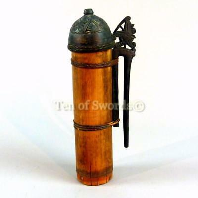 Old Dayak Dart Quiver Bamboo Spear Case