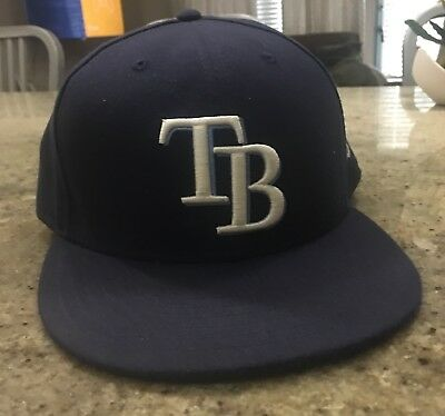 NEW ERA TAMPA Bay Rays GAME 59Fifty Fitted Hat (Light Navy) MLB Cap ... 4c11b93d3fa