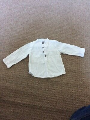 Baby BOY Zara 9-12 white shirt