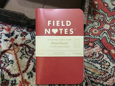 Field Notes Notebooks Heartbeats Edition, Valentine's Exclusive, Set of 2, Red