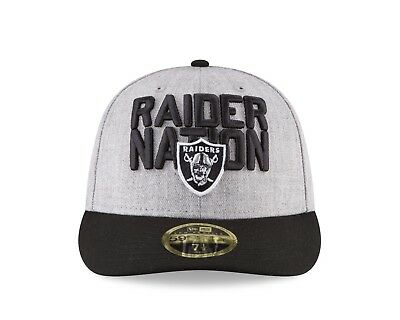 Oakland Raiders New Era 2018 NFL Draft Official On-Stage Low Profile  59FIFTY Hat a8967274e