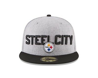 timeless design 977b9 233e7 Pittsburgh Steelers New Era 2018 NFL Draft Official On-Stage 59FIFTY Hat