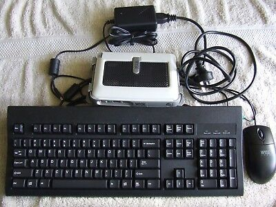 THIN CLIENT WYSE SX0 WINTERM S90  with power adapter, keyboard and mouse