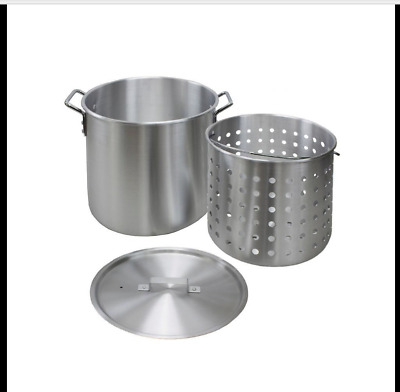 60 Qt. Aluminum Stock Pot Commercial Kitchen Equipment Cookware With Strainer