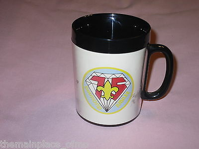 Boy Scout Diamond Jubilee ThermoServ Mug 75th Anniversary 1910 1985 Pride Past