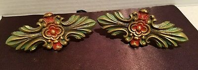 Antique Cast Iron Drapery Curtain Tie Backs Decoration Set Of 2