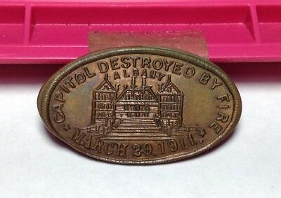 Capital Destroyed By Fire March 29, 1911 Albany --- Listed--N.Yalb 1