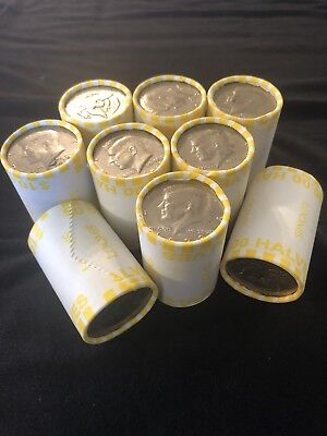 Lot Of (9) Sealed Unsearched Kennedy Half Dollar Bank Rolls Make An Offer