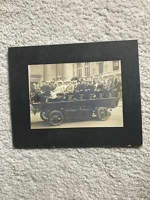 Early 1900s No. 1  Green Car sightseeing service electric car Photgraph