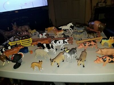plastic farm animals lot