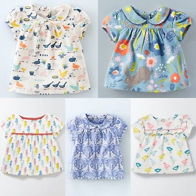 Baby Mini Boden Girls Pretty Soft Jersey Short Sleeve T-Shirt RRP £20 0-3m-2-4y