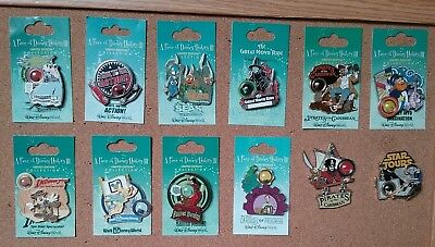 Disney Pin Trading Set of 12 Piece of Disney History III LE 3500