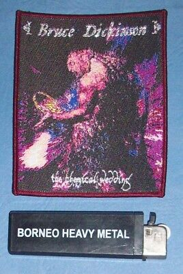 Aufnäher Bruce Dickinson Woven Patch Iron Maiden Heavy Metal Limited NWOBHM
