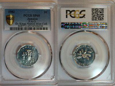 1982 Jamaica FAO Cent PCGS SP65 - Extremely Rare Kings Norton Mint Proof