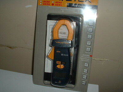 Wavetek AD40 Mini Clamp Meter, AC Ammeter, NIB