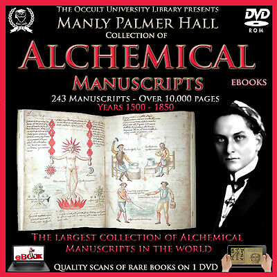 Alchemical Manuscripts Manly Palmer Hall Collection Alchemy Occult Freemasonry ,