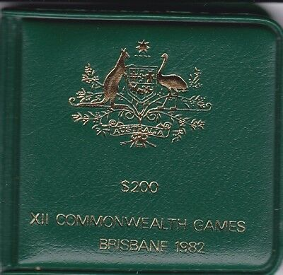 CB279) 1982 Commonwealth Games Australia $200 gold coin, superb uncirculated