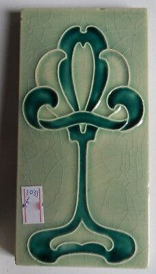 "Original  English  Art Nouveau tile , c1905/8 3""x6""Tile 1033"