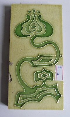 "Original  English Tubed Art Nouveau tile , c1905/8 3""x6""Tile Reference 1104"
