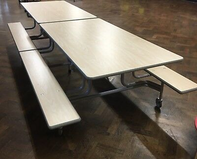 2 Used Mobile Folding School Dining Tables 500 00