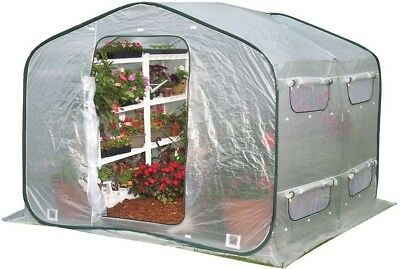 FlowerHouse Pop-Up Greenhouse Portable Collapsible Zipper Closure 6.5 ft x 8 ft.
