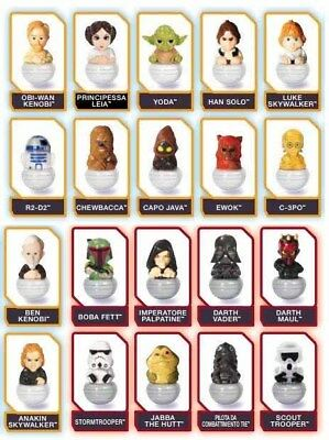 Rollinz serie 1.0 STAR WARS Esselunga 2016 collection - brand new pick from list