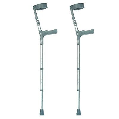 Healthcare Double Adjustable Crutches with Comfy Handle, Long/Tall - Pair