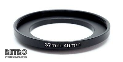37mm to 49mm 37-49mm Step-Up Stepping Ring Filter Adapter - UK Stock