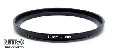 67mm to 72mm 67-72mm Step-Up Stepping Ring Filter Adapter - UK Stock